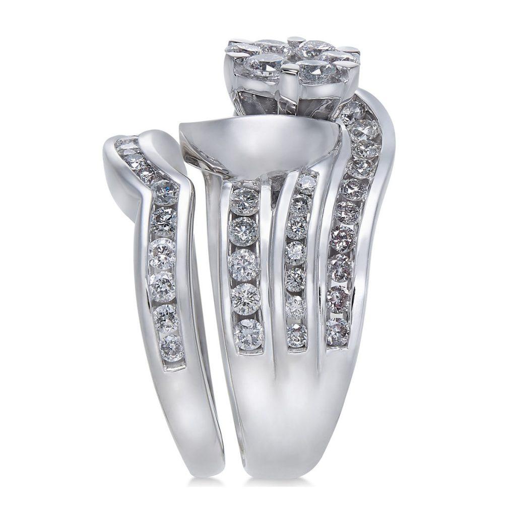 انگشتر جواهر زنانه مدل روماناین با سنگ الماس