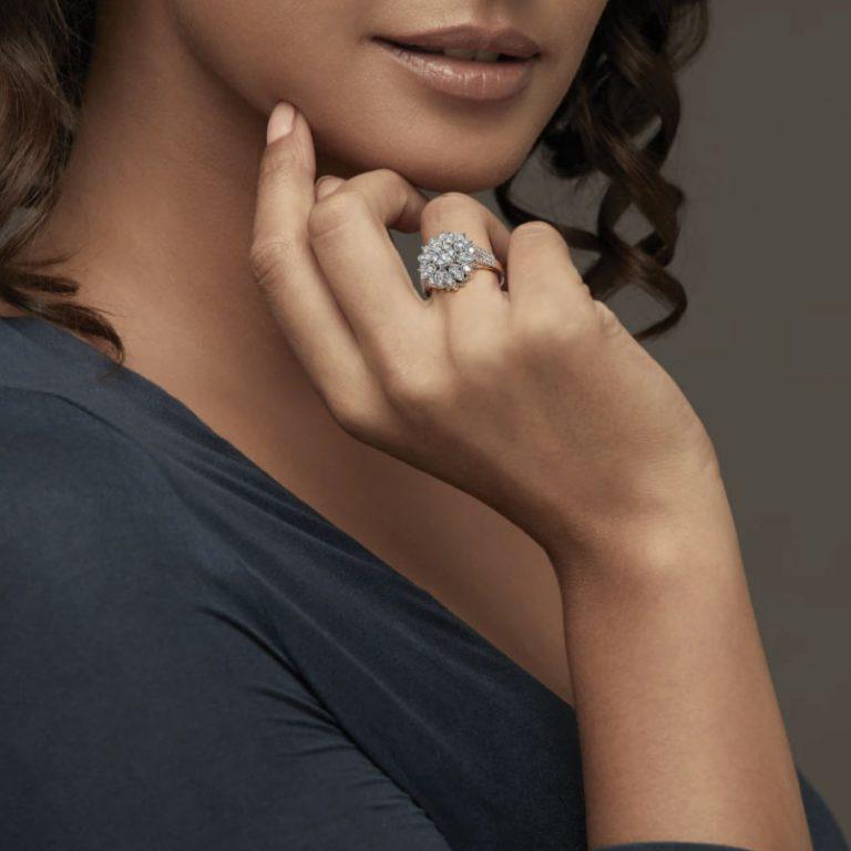 انگشتر طلا زنانه مدل روگانس