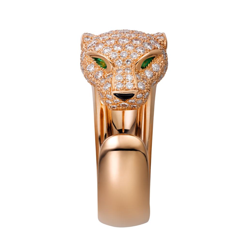 انگشتر طلا کارتیه ببر با سنگ الماس – N4742200