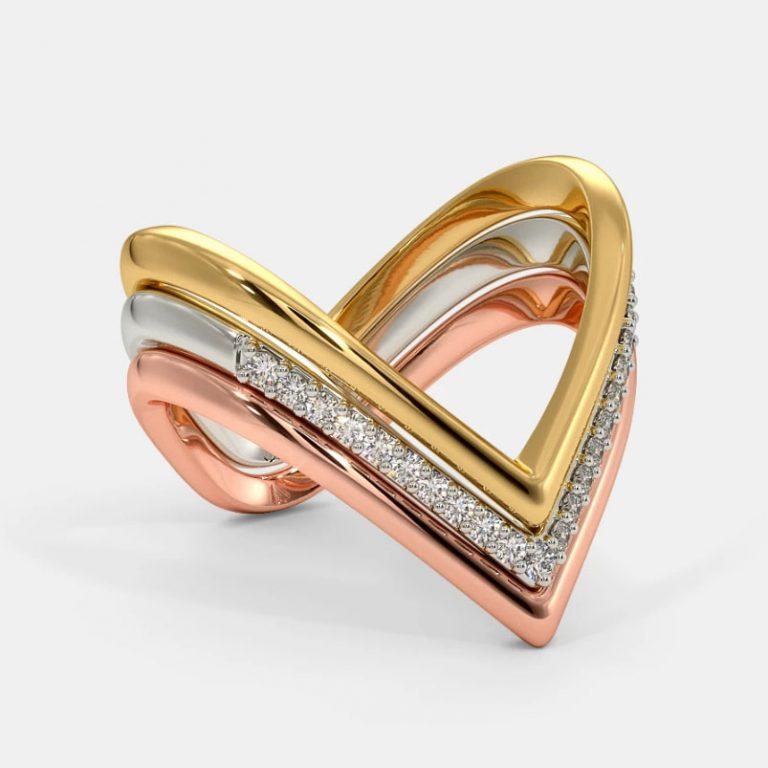 انگشتر طلا زنانه مدل گالوکس