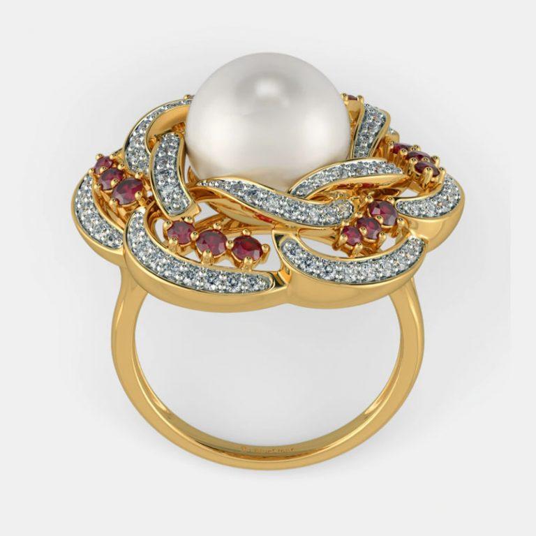 انگشتر طلا زنانه مدل سارین با سنگ الماس