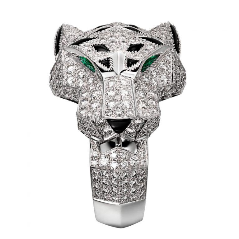 انگشتر طلا کارتیه ببر با سنگ الماس – N4211000