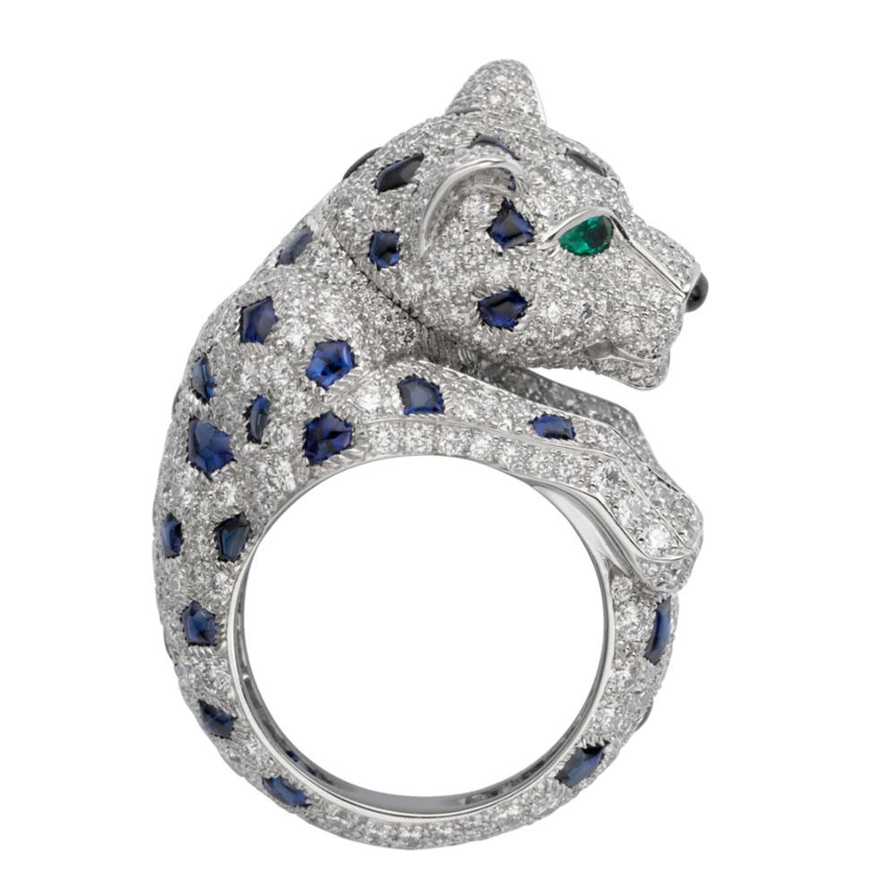 انگشتر طلا کارتیه ببر با سنگ الماس – H4078300