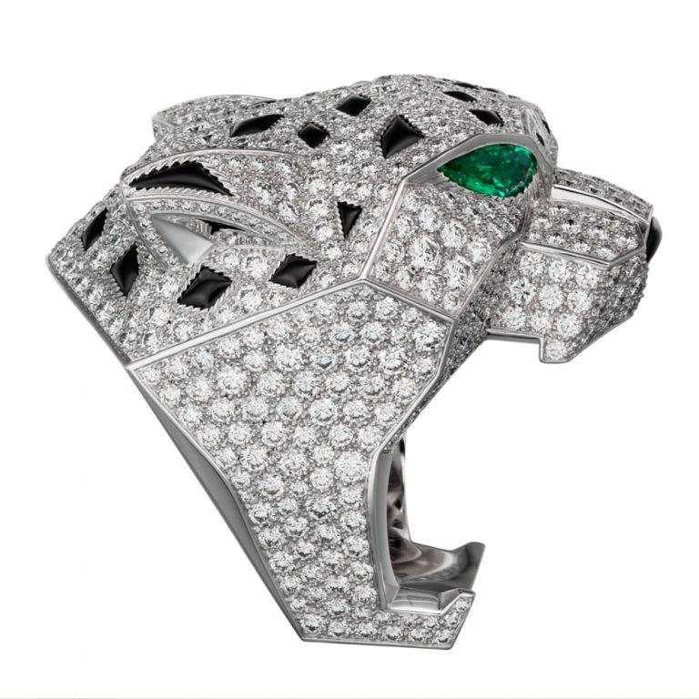 انگشتر طلا کارتیه ببر با سنگ الماس – H4179600