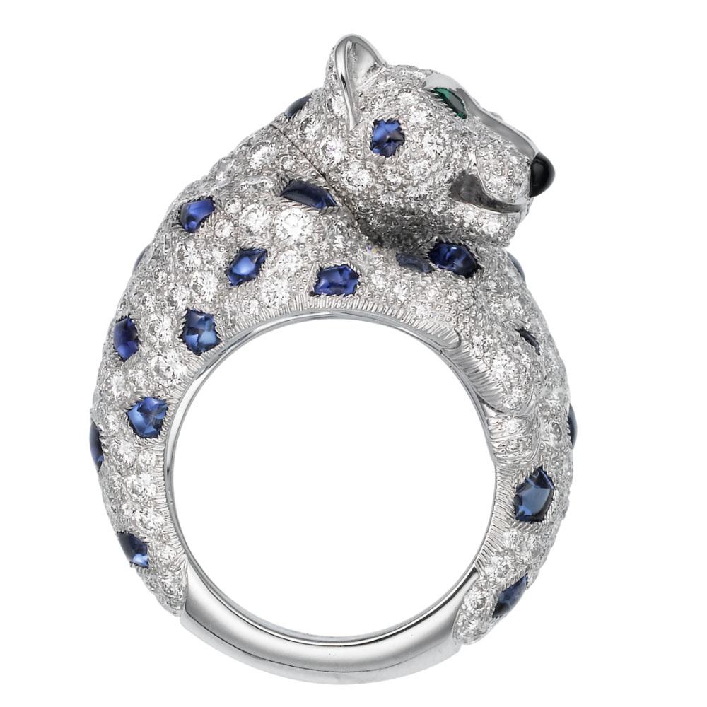 انگشتر طلا کارتیه ببر با سنگ الماس – H4162500
