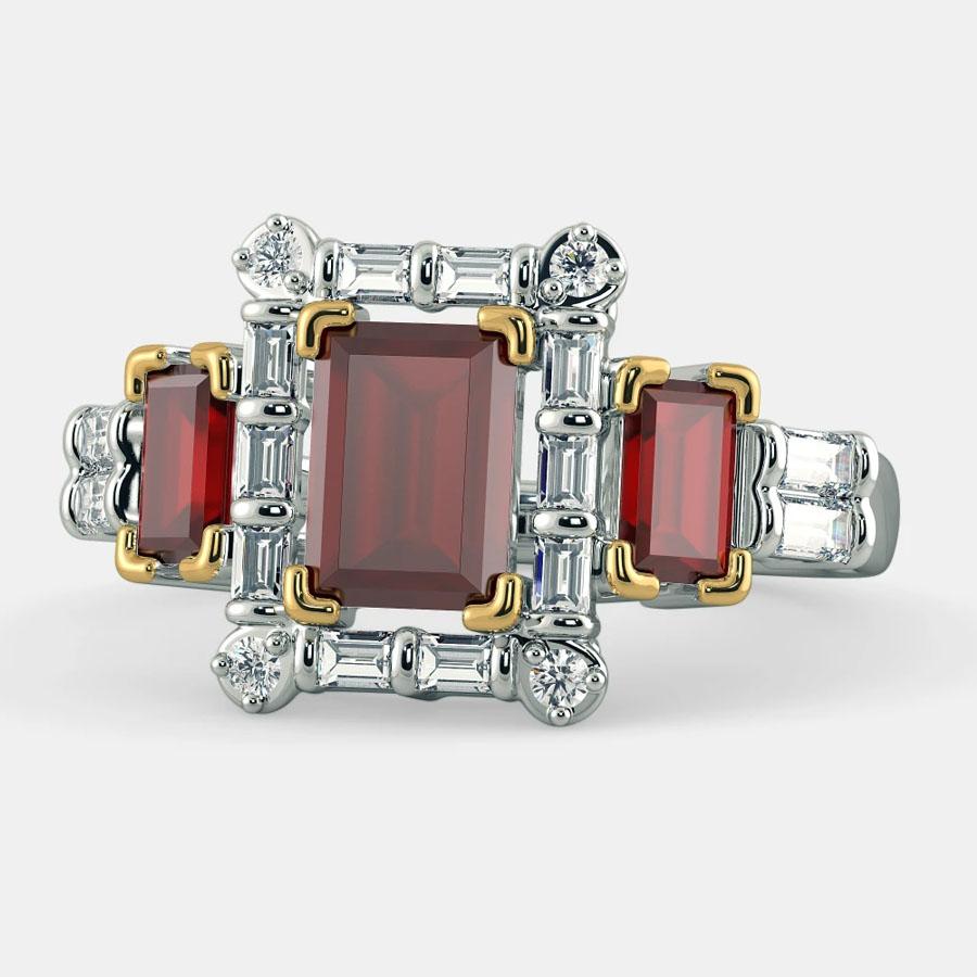 انگشتر طلا زنانه مدل ججرول با سنگ الماس