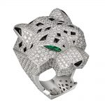 انگشتر طلا کارتیه ببر با سنگ الماس - H4179600