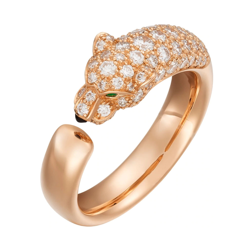 انگشتر طلا کارتیه ببر با سنگ الماس – N4765900