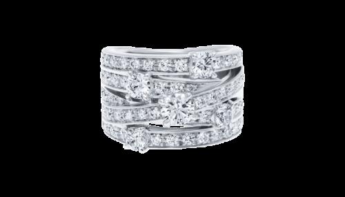انگشتر جواهر زنانه مدل کاناما با سنگ الماس