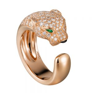انگشتر طلا کارتیه ببر با سنگ الماس - کد001