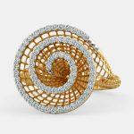 انگشتر طلا زنانه مدل رومیک با سنگ الماس