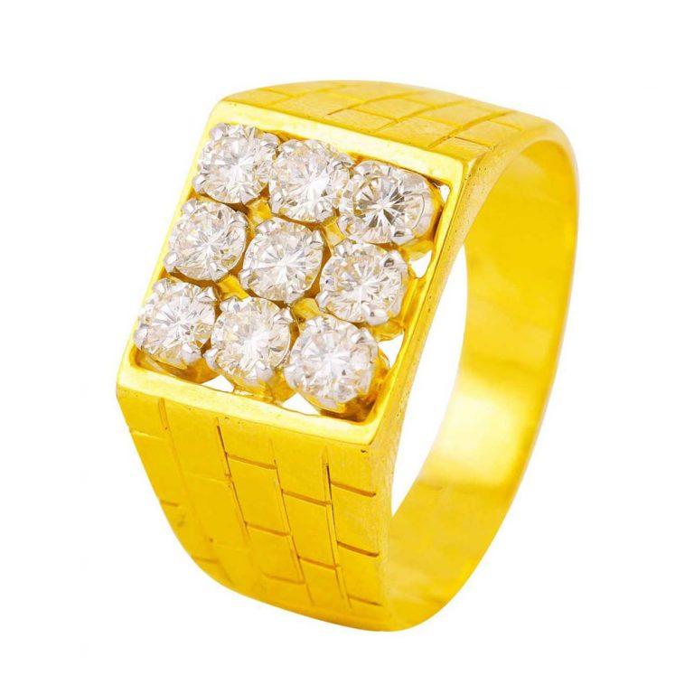 انگشتر طلا مردانه مدل دورارو