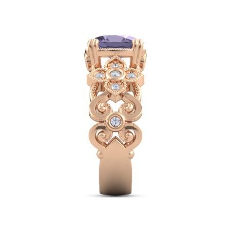 انگشتر طلا زنانه مدل سوین