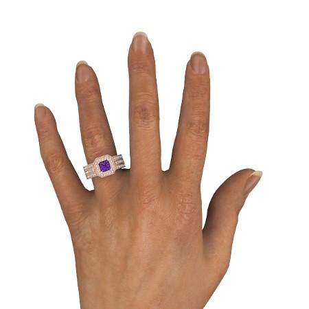 انگشتر طلا زنانه مدل ساروما