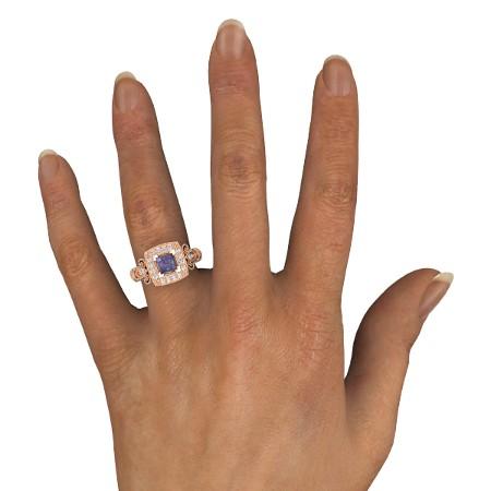 انگشتر طلا زنانه مدل سایسا