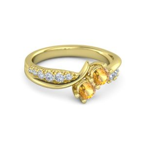 انگشتر طلا زنانه مدل یامور