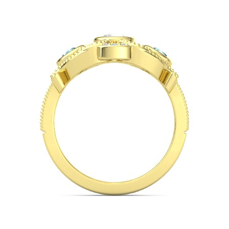 انگشتر طلا زنانه مدل یارومین