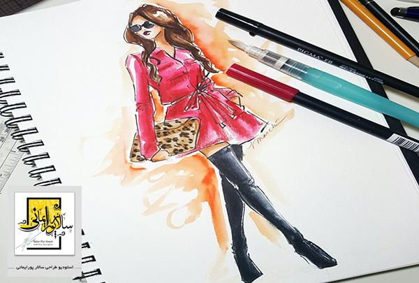 آموزش طراحی لباس روی کاغذ