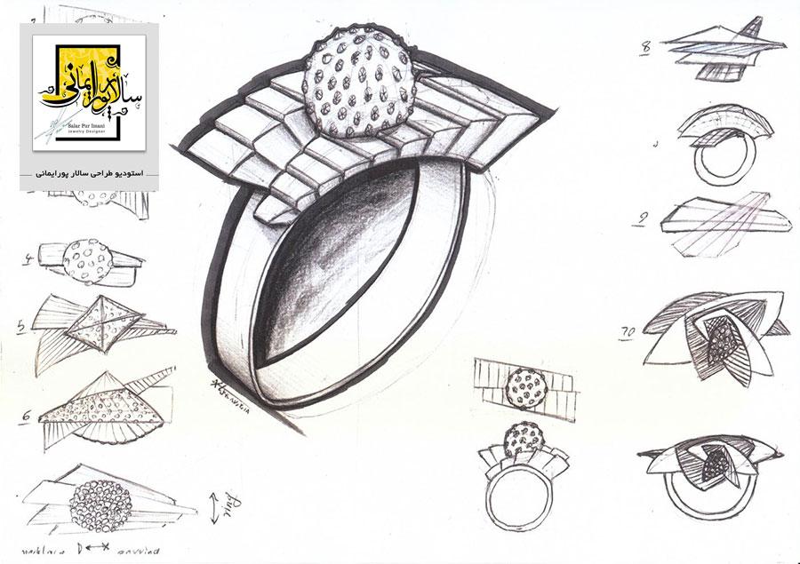 دوره های طراحی جواهرات در استودیو طراحی سالار پورایمانی