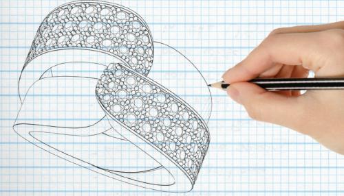 آموزش طراحی دستی طلا و جواهرات