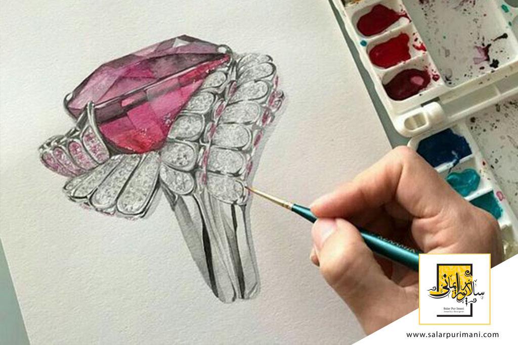دوره آموزش طراحی دستی جواهرات